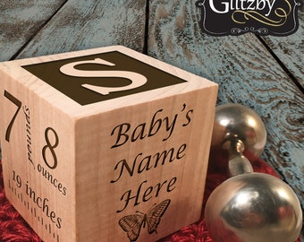 Personalized Babys First Birthday Gift Block 1st