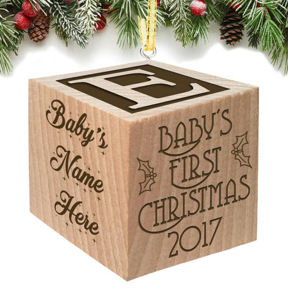baby s first christmas ornament 2017 personalized baby etsy