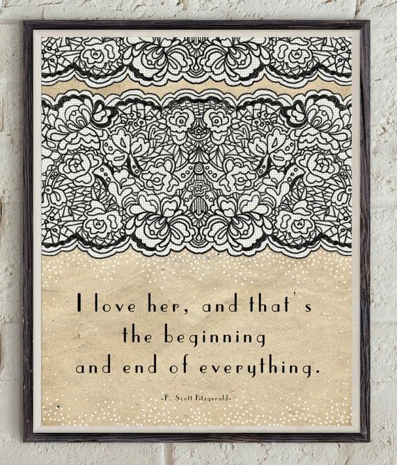Love Quote Scott Fitzgerald Dear Scott Dearest Zelda Etsy