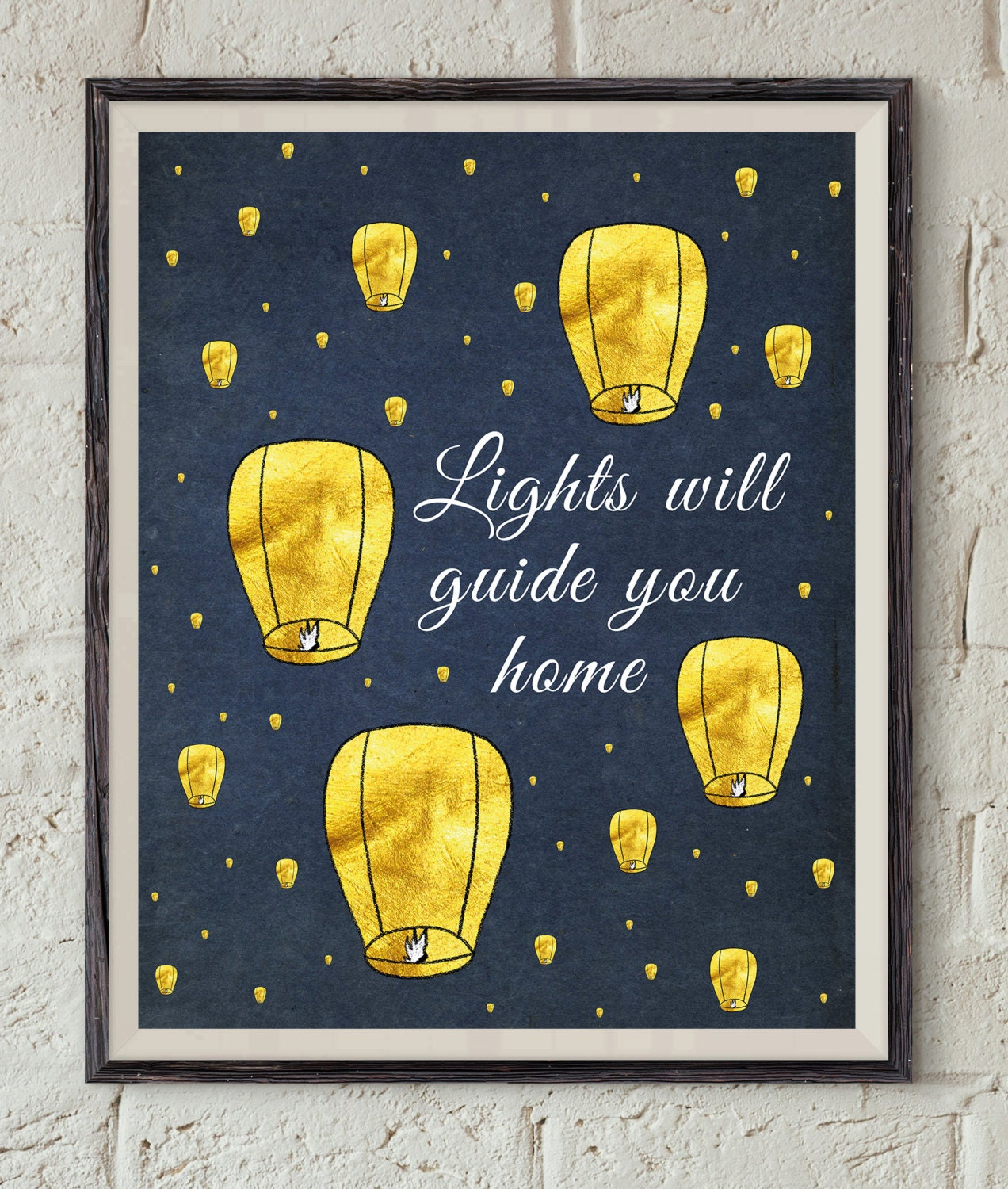 Coldplay Song Lyrics - Lights Will Guide You Home - Paper Lantern Art -  Lyrics Printable - Music Wall Art - Fix You Quote Art - Song Print