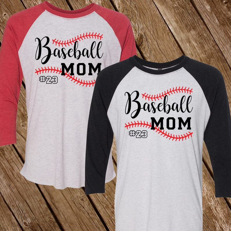 e13d9c166 Personalized Baseball Mom Shirt Large Stitches Adult Unisex | Etsy
