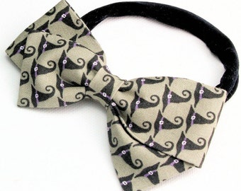 Halloween Bows - Witch Bow - Halloween Fabric Bow