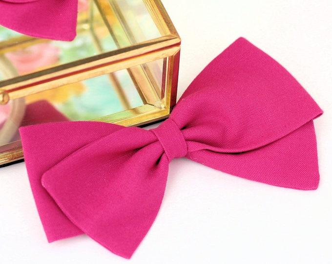 Magenta bow - Hair Bows and clips for Girls - Nylon Headbands