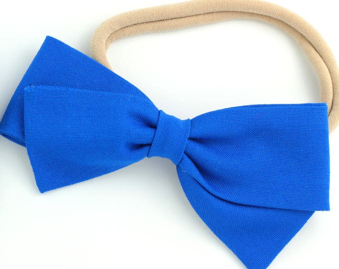 Royal Blue Bow - Large Hair Bows - Hair Bows for Babies and Girls