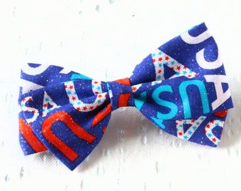 USA Bow -  Fabric Hair Bows