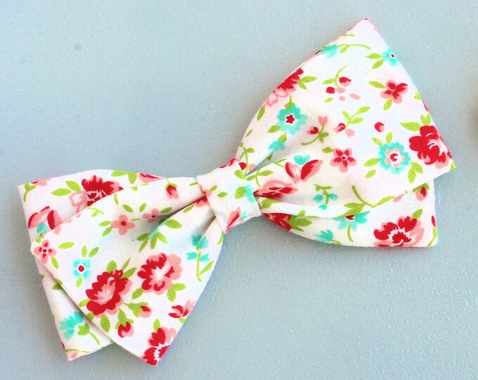 Floral Hair Bow - Flower Girl Hair Bow - Bonnie and Camille