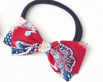 4th of July Bow - Floral Hair Bow for Girls