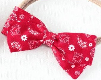 Bandana Bow - Hair Bow