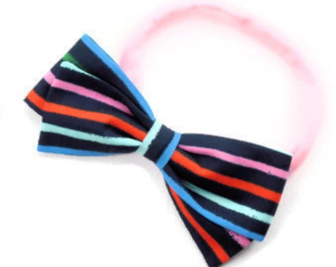 Rainbow Hair Bow - Striped Hair Bows - Large and Small Hair Bows