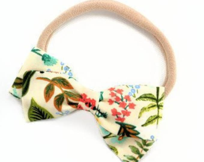 Rifle Paper Co Baby Bow - Amalfi Herb Garden -Floral Hair Bow