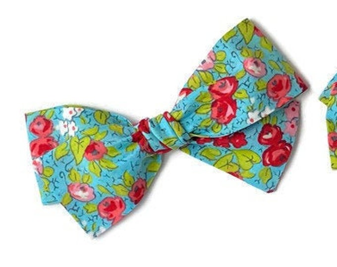 Spring Hair Bows - Spring Floral Bow - Hair Bows For Girls