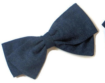 Denim Hair Bow