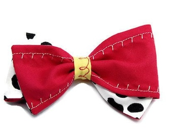 Jessie Toy Story Bow - Red Disneyland Hair Bow - Red and White Polka Dot Bow