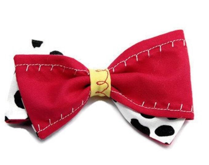 Jessie Hair Bow -  Toy Story bow- Disneyland Hair Bow - Jessie Bow