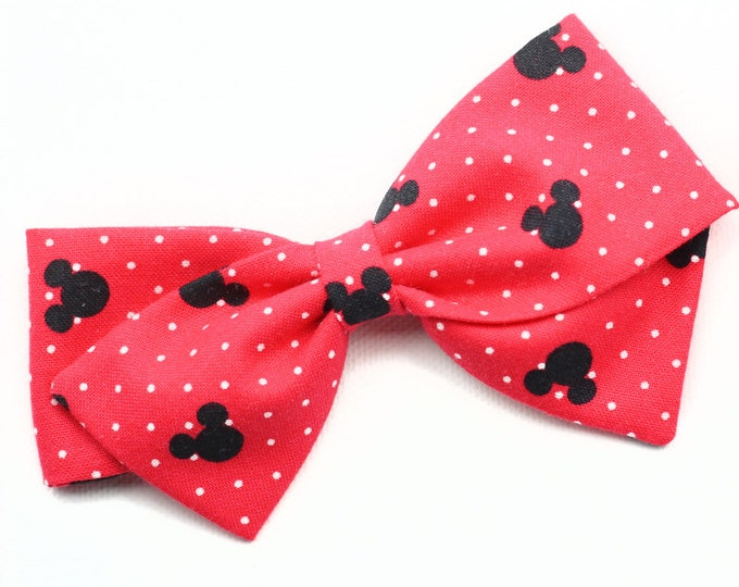 Mickey Mouse Hair Bow - Red Disneyland Hair Bow - Red Hair bows for girls