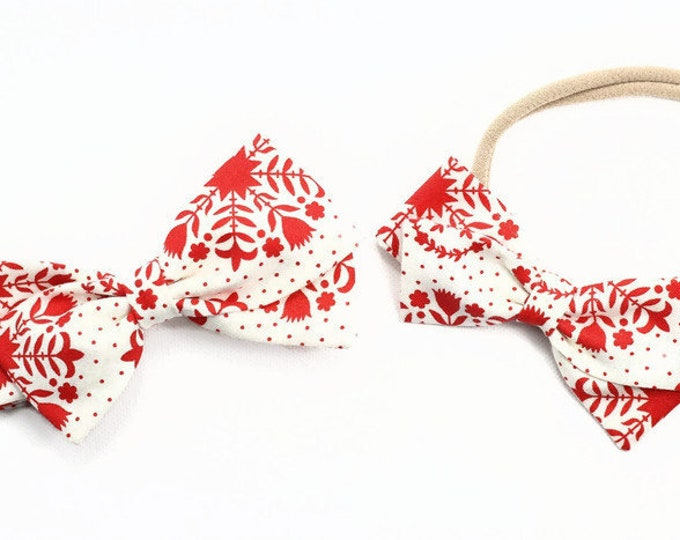 baby girl hair accessories cream bow clip