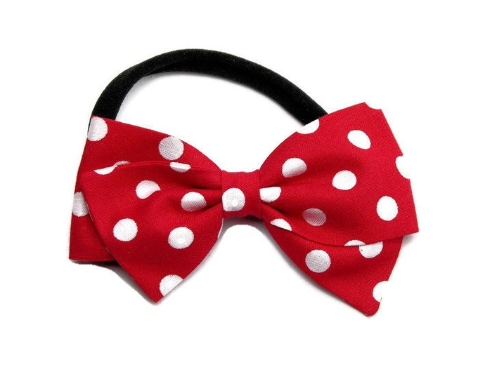 Minnie Mouse Hair Bow - Red Disneyland Hair Bow - Red Hair bows for girls