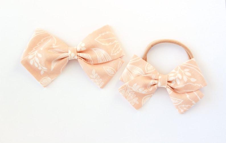 Rifle Paper Co Bow Queen Anne Bow Peach Hair Bow For Girls