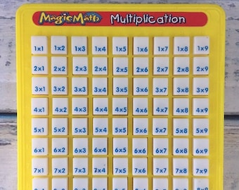 Vintage Magic Math Machines, Multiplication, Touch Tell Me, Homeschool, Learning Toy, Times Tables, Educational Toy