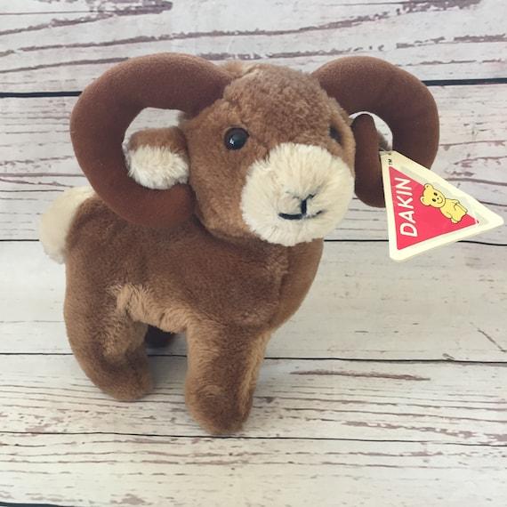 Dakin Small Bighorn Sheep Plush 1986 Stuffed Animal Etsy