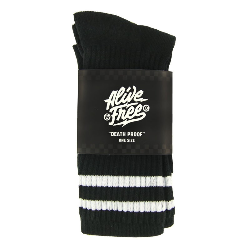 Death Proof Crew Socks Alive /& Free Co Motorcycle Clothing