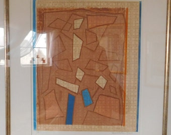 SALE 25% OFF - Authentic Lithograph - Martha Epp - Abstract Art - Framed Limited Edition 7/8 - Signed