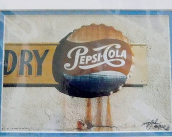 Michael L. John - Colorado Artist - Photography of Vintage Pepsi Advertisement - Signed with Matte and Artist Information - Limited Edition