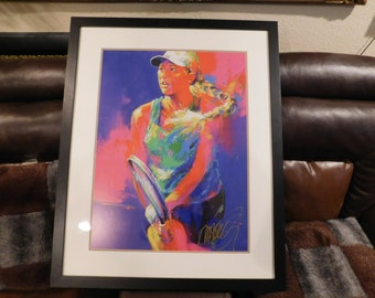 Leroy Neiman - Signed Chromolithograph of Tennis Player - Vibrant and Strong Colors - LEROY NEIMAN (American, 1921-2012)