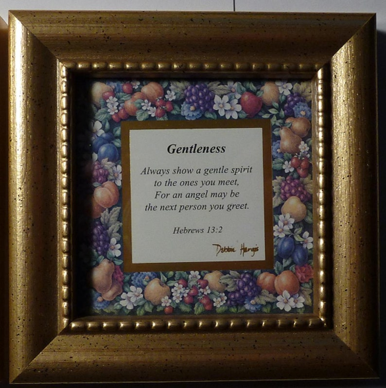 Patience Goodness and Gentleness 3 Set of Three - All Different Heartfelt Collection Inspiration Picture Frames