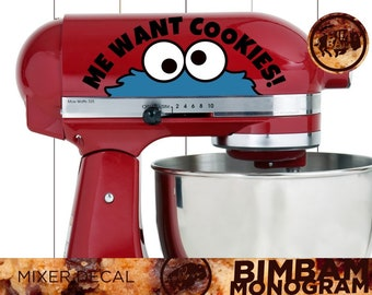 Mixer Decals - Cookie Decal - Kitchen Aid Mixer - Housewarming Gift - Kitchen Décor - Bridal Shower Gift - Kitchen Aid Decal - Mixer Decal
