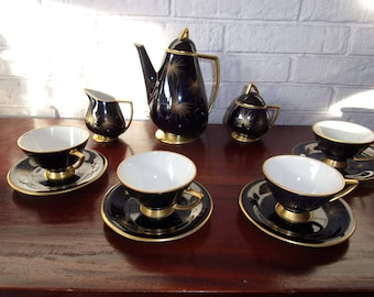 Cobalt blue china Coffee Set - NOW IN SALE!!