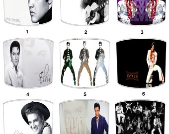 Elvis Presley The King Lamp shades, To Fit Either a Table Lamp base or a Ceiling Light Fitting.