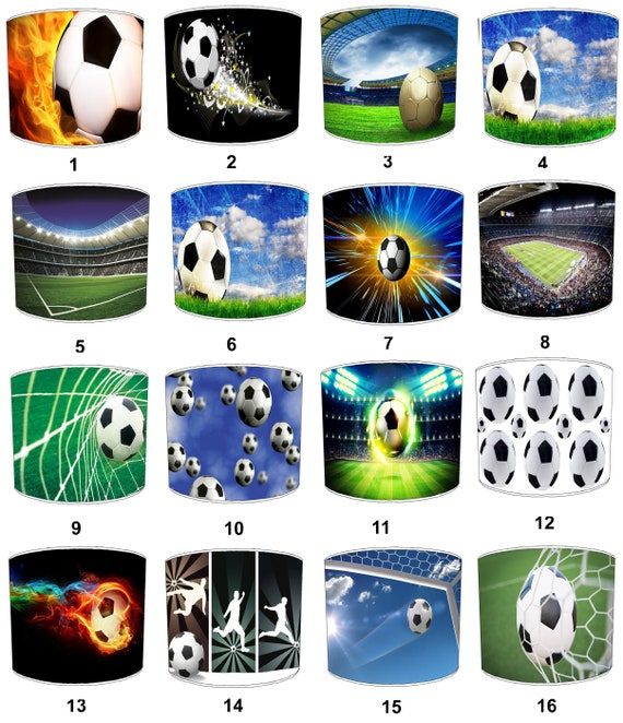 Football Soccer Childrens Lamp Shades To Fit Either A Table Etsy