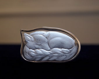 Fox - brooch
