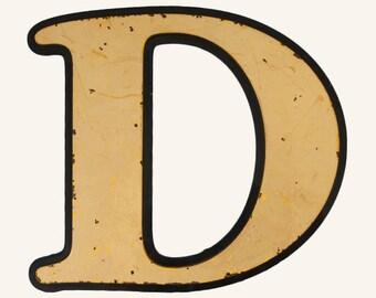 Vintage Reclaimed Pub Letter D
