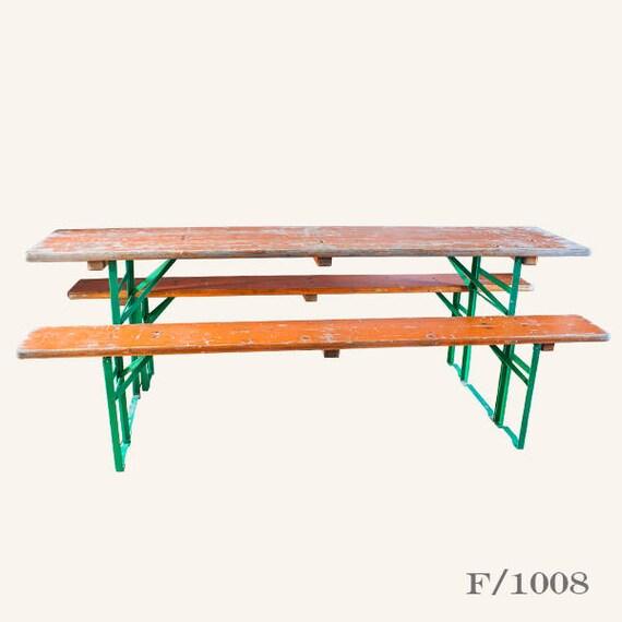Amazing Vintage Beer Table Bench Set Evergreenethics Interior Chair Design Evergreenethicsorg