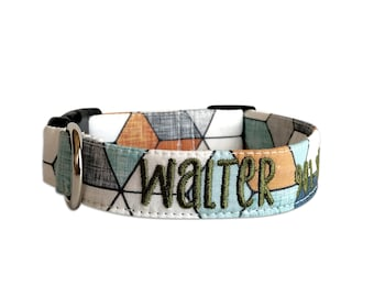 gift ideas for dogs winter collar for large dogs Dog collar tribal metallic gold and black geometric boy or girl dog collar