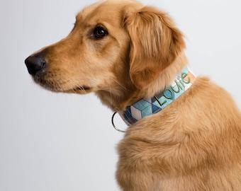 Fall Geometric Dog Collar, Fall Dog Collar, Autumn Dog Collar