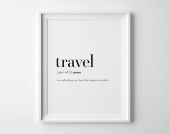 Personalised Vintage Travel Word Art Print  Distressed Word Print  Locations Framed Print  Holiday Memories Word Art  Vintage Word Art