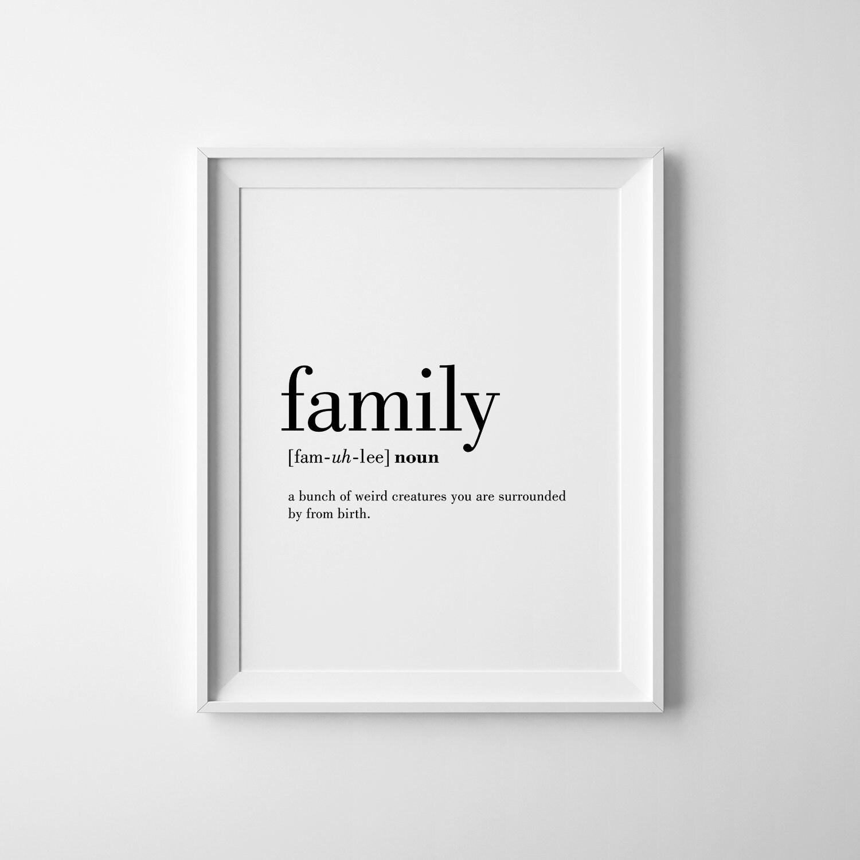 Famiglia definizione stampa famiglia parete arte for Famiglia parete