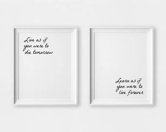 Motivational Wall Decor, Famous Quotes, Inspirational Wall Art, Wall Art Set, Printable Quotes, Quote Print