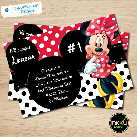 minnie mouse invite minnie mouse birthday party printable etsy