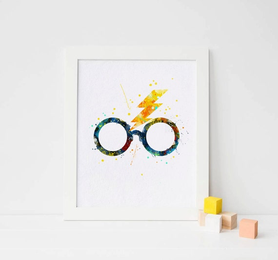 harry potter wall art Harry potter glasses Harry potter poster harry potter artwork  harry potter wall art