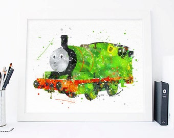 Percy the Small Engine, Thomas the Train printables, thomas and friends, tomas art, Nursery tomas print, nursery wall art, nursery print