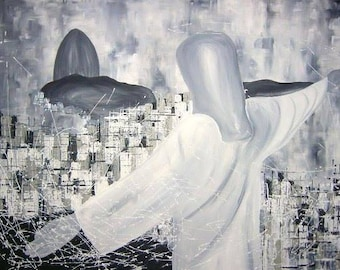 El Milagro de Rio, abstract Rio de Janeiro, acrylic on canvas, 70 x 100 cm