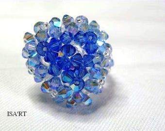 320afd0a7dab Ring blue Swarovski Crystal