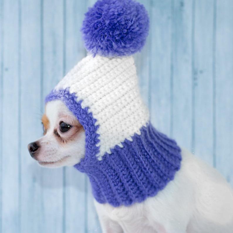 641555f4fcbfe Funny Dog Hat Cozy Crochet Dog Hat Warm Knitted Dog Hat