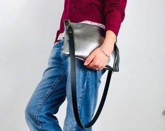 Silver Leather Purse b76ebcc2d2
