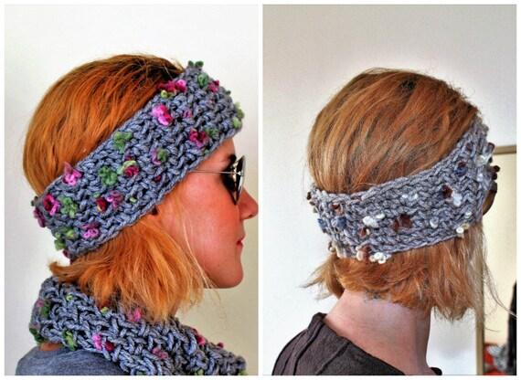 Femmes Bandeau Tête Complète Housse Turban Head Wrap Cheveux Yoga Chapeau Fleur Tricot Cap
