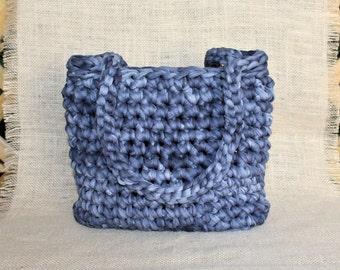 Crochet spring bag, Basket bags, Shoulder bucket bag, Bucket bag women, Casual work bag, Shoulder casual bag, Crochet bucket purse